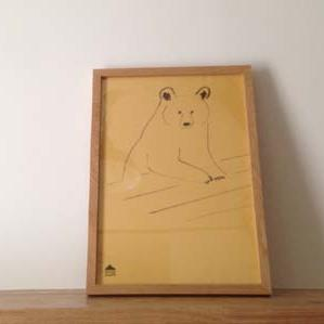 ナラ無垢材のポスターフレーム(サイズ:B3(517×366mm))