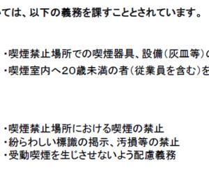 #受動喫煙対策法コンプライアンス