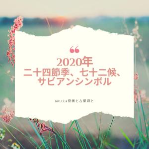 2020年の二十四節季、七十二候とサビアンシンボルで季節の変化を細やかに感じる!