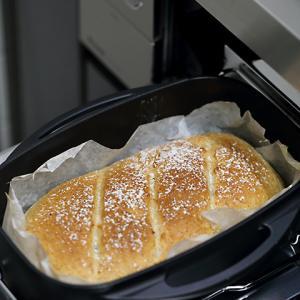 コンロを便利に使って楽しい時間★グリル機能で全粒粉パンを焼いてみました / パン作りは失敗の積み重ね。。
