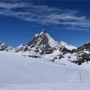 ツェルマットでスノーボード