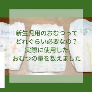 新生児用のおむつってどれぐらい必要なの?実際に使用した新生児用のおむつをまとめてみました。