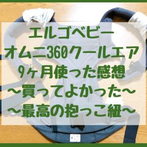 エルゴベビーオムニ360クールエアを9ヶ月使用した感想