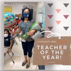 Teacher of the Year 受賞!