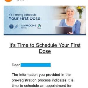 しっかりしてよ、フロリダ州のワクチン接種のサイト!