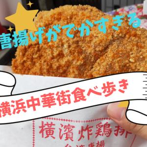 【のんびり食べ歩き】デカすぎるフライドチキン!!横浜中華街で台湾唐揚げを食べました!!【横濱炸鶏排】