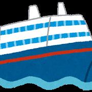 クルーズ船内の乗客