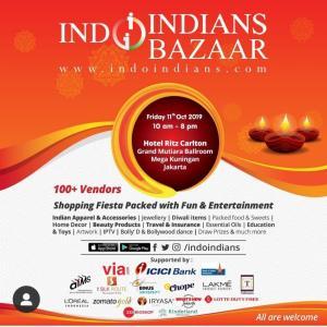 """インドネシアに住むインド人コミュニティのバザー""""Indo Indians"""""""