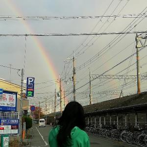 Double rainbow(二重虹) からの嬉しい メッセージ ~「卒業」と「祝福」