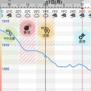 「比較対照」としての母 ~ 梅雨で気圧グラフが乱高下 ⇒「頭痛❓」or 「Not❓」