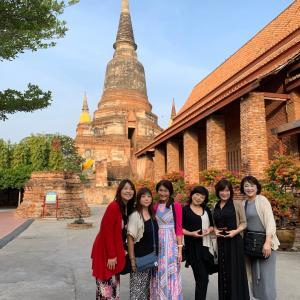 タイ ホテルチェック前に アユタヤ遺跡観光