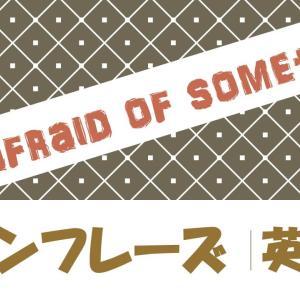 I'm afraid of something 例文・フレーズ(9例)