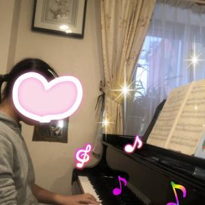 勿忘草、同じ楽譜を使って母娘二代で弾きます♡