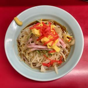 新珍味で食べるタレが甘めの冷し中華@池袋