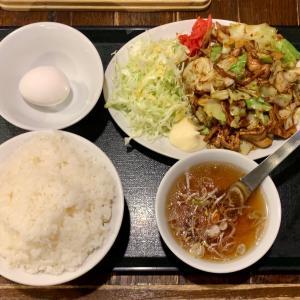 ガッツリ中華定食を八右衛門で食べる@田端
