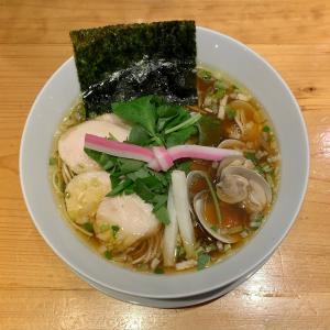 むぎとオリーブで蛤スープのラーメンを味わう@東銀座
