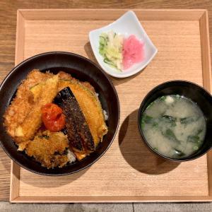 タレカツで良い塩梅の野菜カツ丼を味わう@渋谷