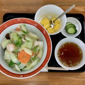 蛸八でアッサリとした中華丼を食べる@千駄木
