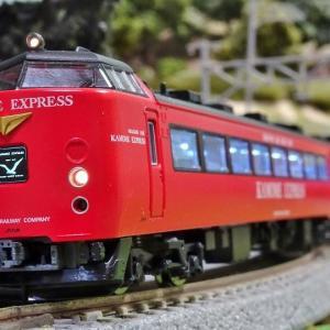 赤い485系シリーズの第一弾 485系かもめエクスプレス