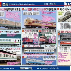 TOMIX 6月の新製品(2021.1.14発表)-ポポンからも近鉄SLが-