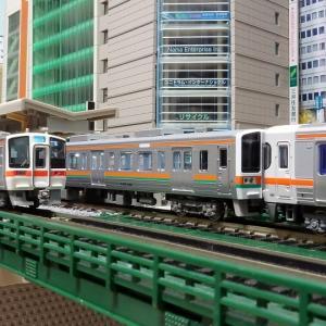 中京地区の近郊形車両 211系と313系 併結編成