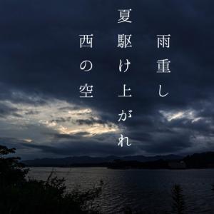 雨重し夏駆け上がれ西の空