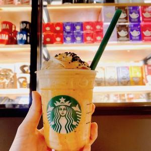 【スタバ】超レア!2日間だけしか楽しめない「大学芋フラペチーノ」&「コーヒーホイップクリーム」♪