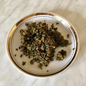 お茶殻の油炒め