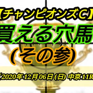 買える穴馬3【チャンピオンズC】