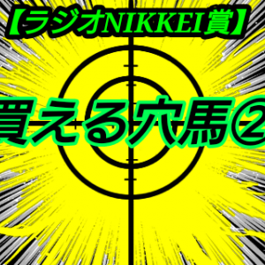 買える穴馬2【ラジオNIKKEI賞】