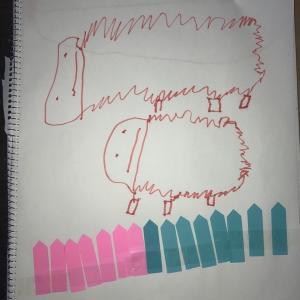 4歳児は描きたいものを描く。理由はない!