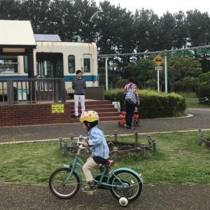 辻堂海浜公園で自転車の練習をしてきました。交通公園は安心して練習できます。