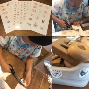 息子の絵をシールにしました。頭足人シール誕生!