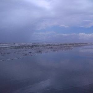 【九十九里】砂嵐の海岸をちょっとだけお散歩