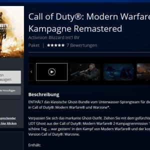 『CoD:MW2』ドイツのPSストアにキャンペーンリマスター版が登場!約2分のトレーラーとスクリーンショットもリーク!※現在削除済み