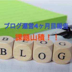 【ブログ運営】はてなブログを始めて4ヶ月目は課題山積!(PV、読者数、収益 etc.…)
