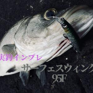 【実績No1ルアー】サーフェスウィング95Fインプレッション ジャンプライズ・ヒラスズキルアー