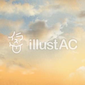 フリーイラスト素材:夕焼けの空