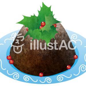 フリーイラスト素材:クリスマスプディング