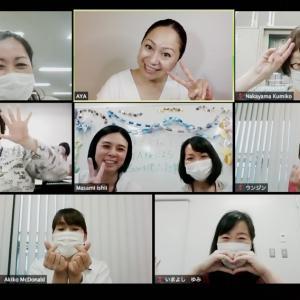 国際交流協会の皆さん、かなりアツイです★日本語オンライン講習開催しました!