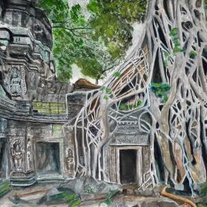 アンコール遺跡 (タ・プローム寺院)