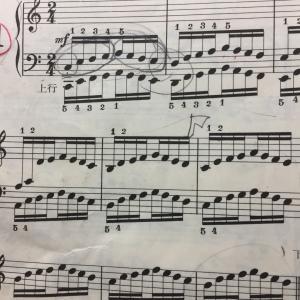 ハノンの移調奏
