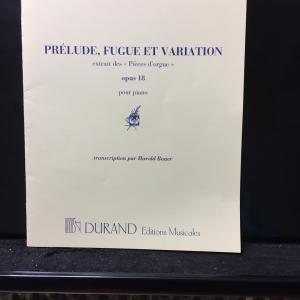 フランクOp.18「前奏曲、フーガと変奏曲」