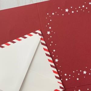 貼るだけ 簡単 素敵クリスマスカード
