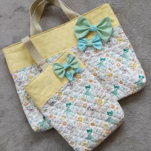 娘のレッスンバッグ&シューズバッグ手作り…してもらいました!