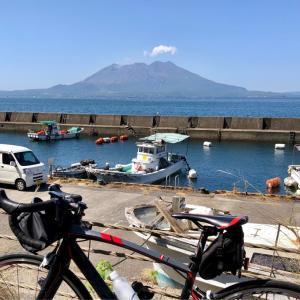 霧島市福山から垂水道の駅まで桜島を裏から見ながらサイクリング