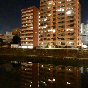 天文館から夜の甲突川界隈を散歩