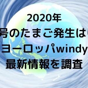 2020台風5号のたまご発生はいつ?米軍ヨーロッパwindyでの最新情報を調査