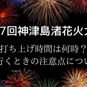 神津島渚花火大会2020打ち上げ時間は何時?島に行くときの注意点についても