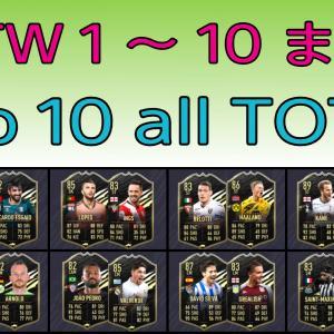 FIFA21 TOTW 1~10 までの選手カードまとめ